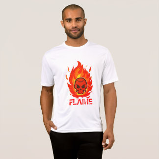 Skull with flame around it T-Shirt