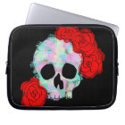 Skull with Flowers Art Laptop Case