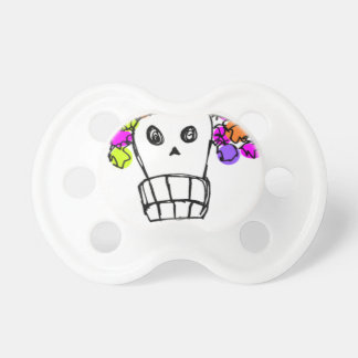 skull with flowers pacifiers