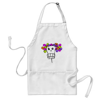 skull with flowers standard apron