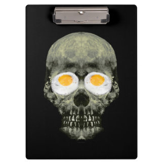 Skull with Fried Egg Eyes Clipboard