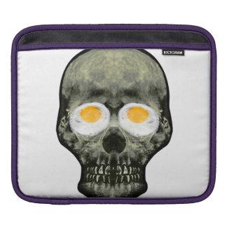 Skull with Fried Egg Eyes iPad Sleeve