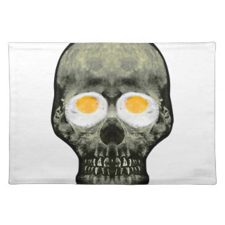 Skull with Fried Egg Eyes Placemat