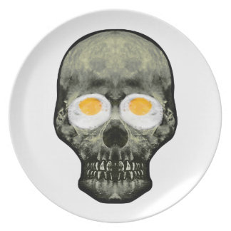 Skull with Fried Egg Eyes Plate