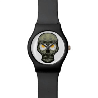 Skull with Fried Egg Eyes Watch
