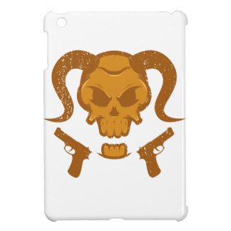 Skull with gun cover for the iPad mini