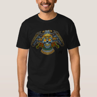 Skull with Guns and Bullets by Al Rio T Shirt