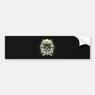 Skull with Hat and Crossbones Bumper Sticker