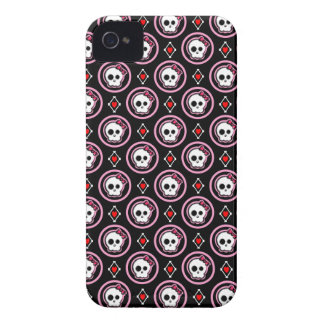 Skull with heart and bow design iPhone 4 Case-Mate cases