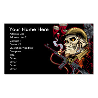 Skull with Helmet, Airplanes and Bombs Pack Of Standard Business Cards