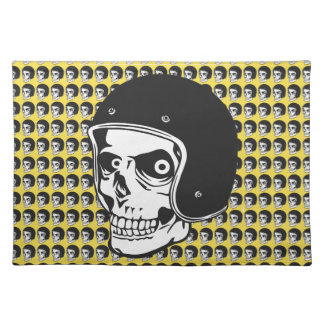 Skull with helmet placemat
