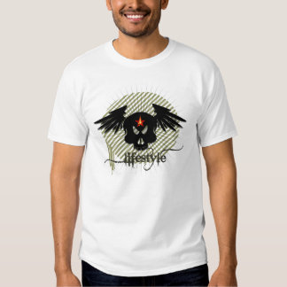 Skull with lifestyle designed by pinkapple team t-shirts