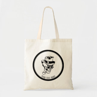 Skull with pipe and hat tote bag