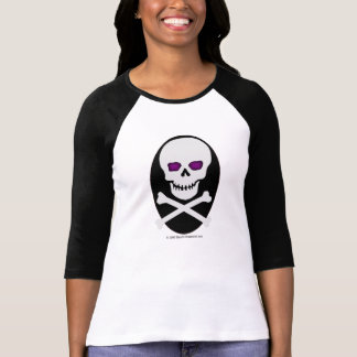 Skull with purple eyes - shirt