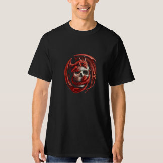 skull with red dragon T-Shirt
