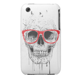 Skull with red glasses iPhone 3 Case-Mate case