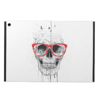 Skull with red glasses case for iPad air