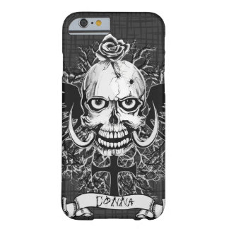Skull With Rose Tattoo Personalize Barely There iPhone 6 Case