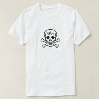 Skull with the word Malum T-Shirt