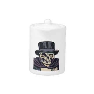 Skull with top hat