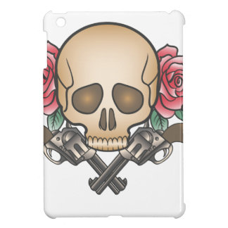 skull with vintage guns and flowers iPad mini cases