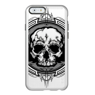 Skull With Wings And Tribal Outline Ornate Incipio Feather® Shine iPhone 6 Case