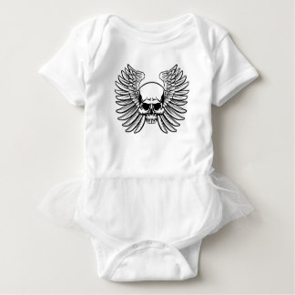 Skull with Wings Baby Bodysuit