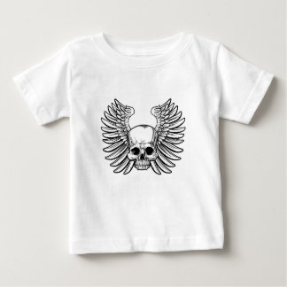 Skull with Wings Baby T-Shirt