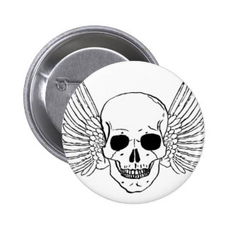 Skull with Wings Pinback Button