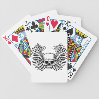 Skull with Wings Bicycle Playing Cards
