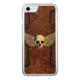 Skull with wings carved iPhone 8/7 case