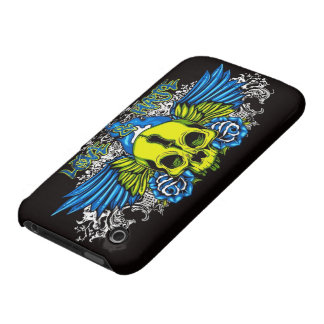 Skull with Wings iPhone 3 Covers