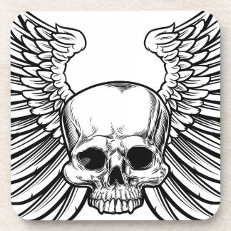Skull with Wings Coaster