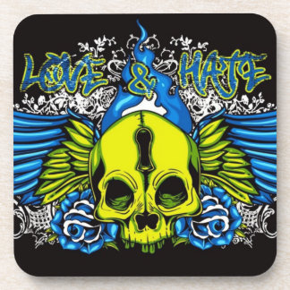 Skull with Wings Drink Coasters