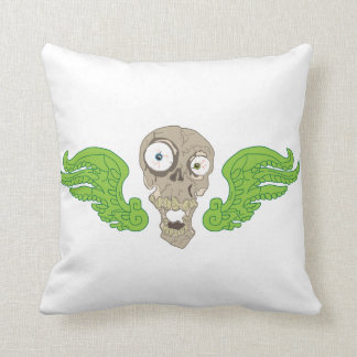 Skull with wings throw cushions