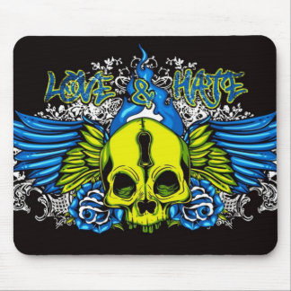 Skull with Wings Mouse Pad