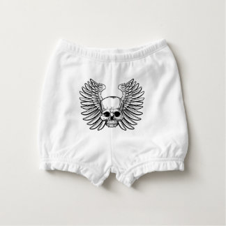 Skull with Wings Nappy Cover