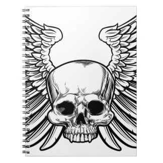 Skull with Wings Notebook