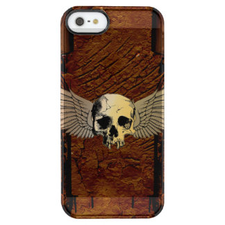 Skull with wings on dark background clear iPhone SE/5/5s case