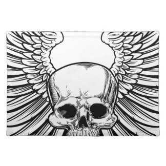 Skull with Wings Placemat