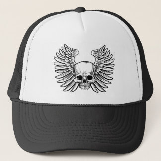 Skull with Wings Trucker Hat