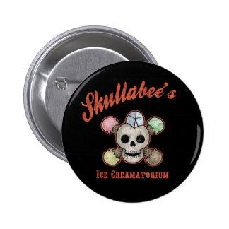 Skullabee's Ice Creamatorium 6 Cm Round Badge