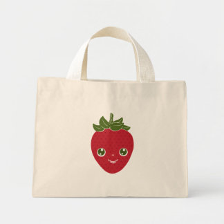 Skullberry, Sweet Strawberry That Has Gone Rogue Mini Tote Bag