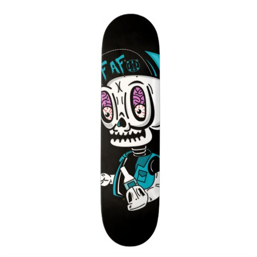 Skullbrains Black Deck Skateboard Deck