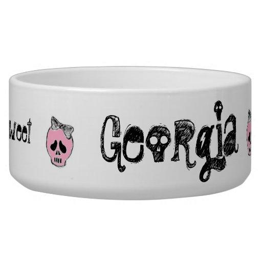 Skullette - Lickity Sweet Bowl, LG Dog Bowls
