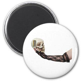 SkullGears013110 6 Cm Round Magnet