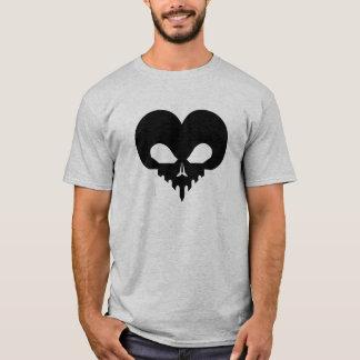 SkullHeart-Blk T-Shirt
