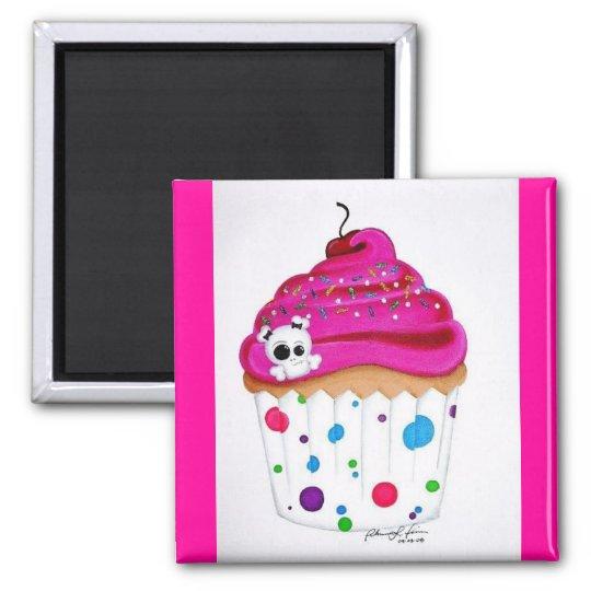Skullie Cupcake Magnet
