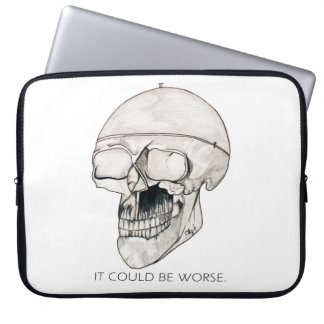 sKULLIE - IT COULD BE WORSE to cover your computer Laptop Computer Sleeve