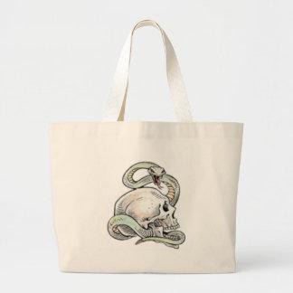 skullitan n' snake jumbo tote bag